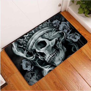 SnM - King Poker Skull Door Mat