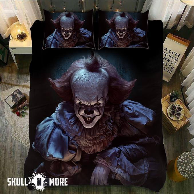 Snm Smiling Pennywise Bedding Set Cover Skull N More