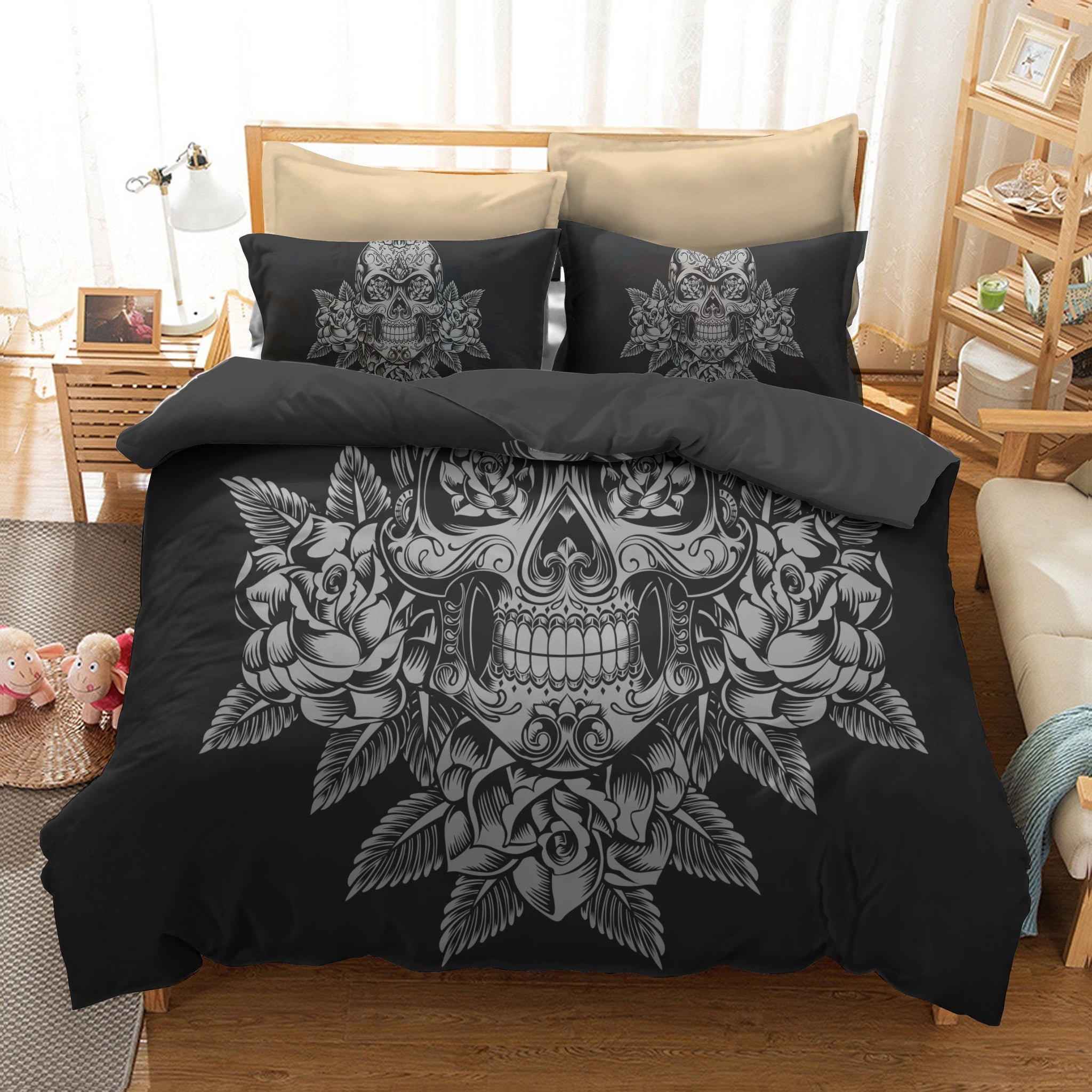 Sugar Skull & Skull Bedding Set | Skull N More | Free Shipping on $100