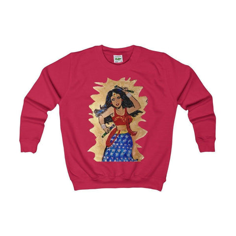 Desi Wonder Woman Kids Sweatshirt