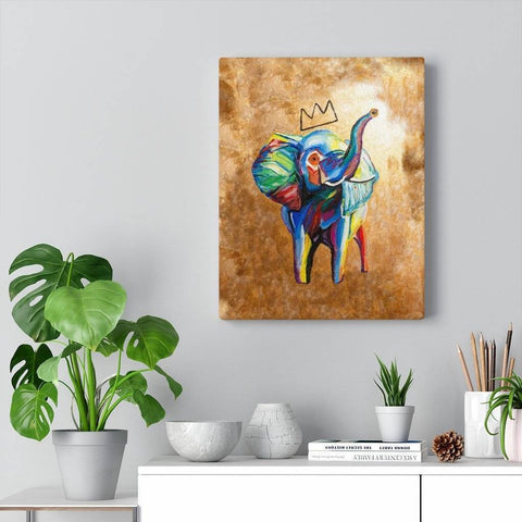 Elephant X Crown Canvas Print