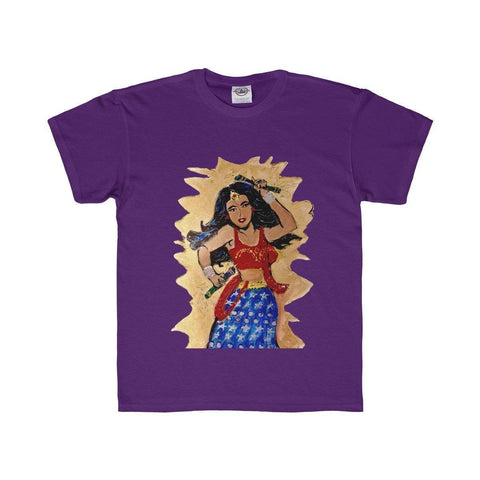 Desi Wonder Woman Kids T-Shirt