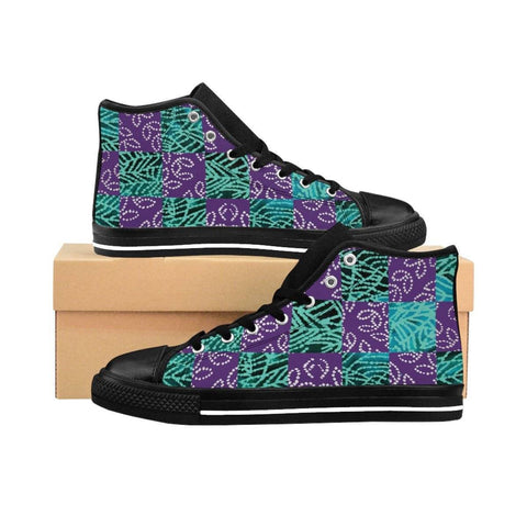 Folk Checker Women's High-top Sneakers