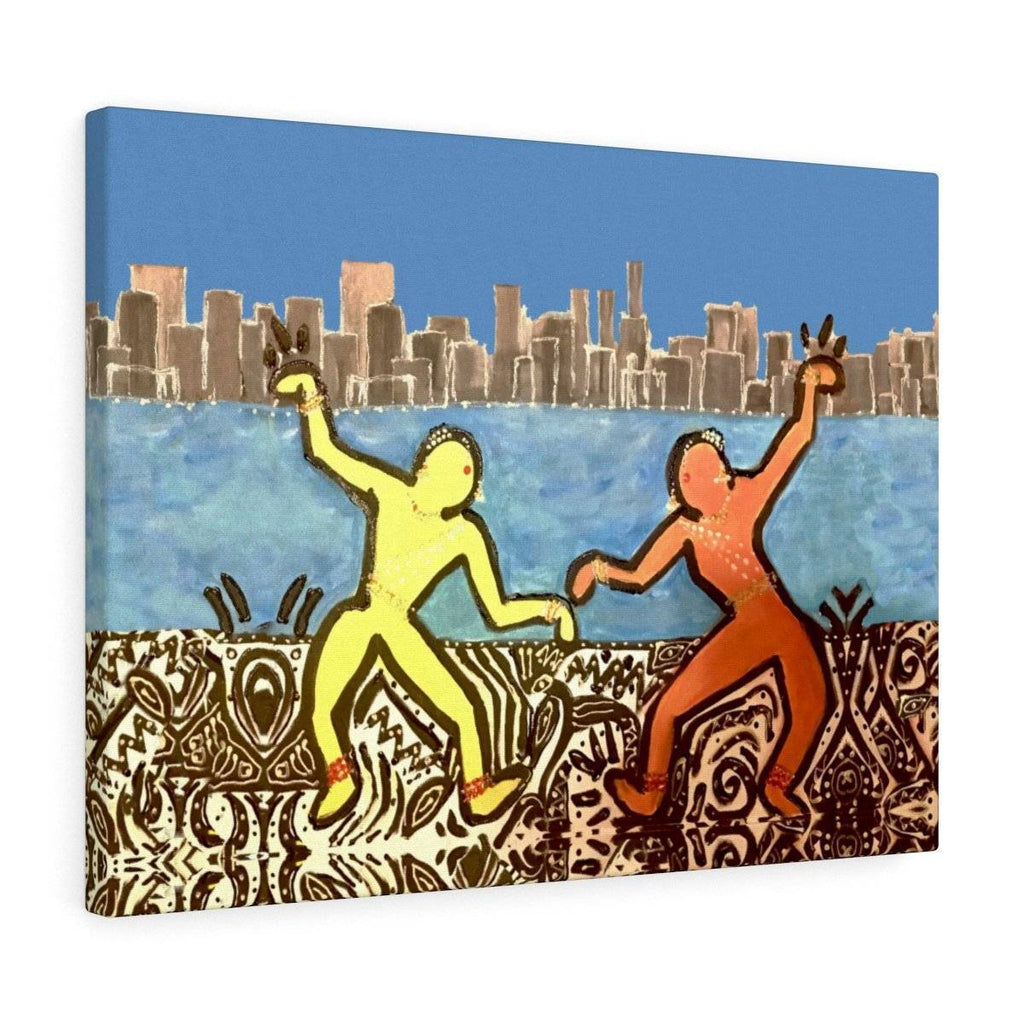 City Dancers Canvas Gallery Print