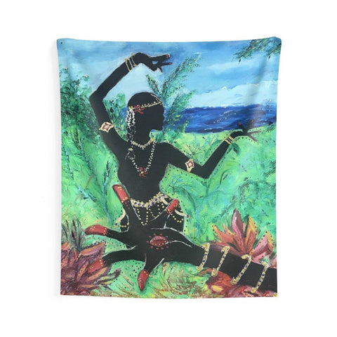 Lotus Hand and Dancer Wall Tapestry