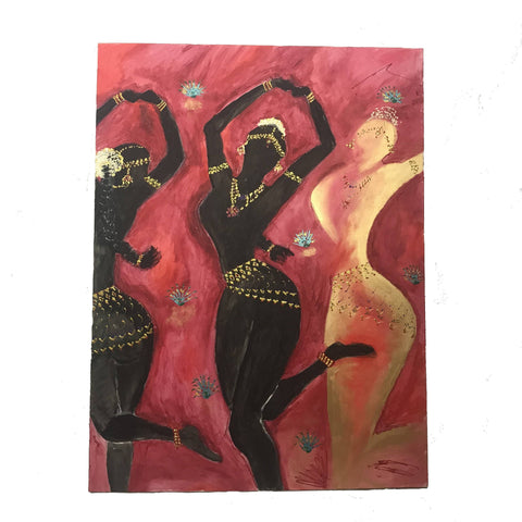 3 Temple Dancers Painting