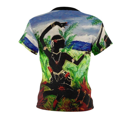 Lotus Hand and Dancer Women's Cut & Sew Tee