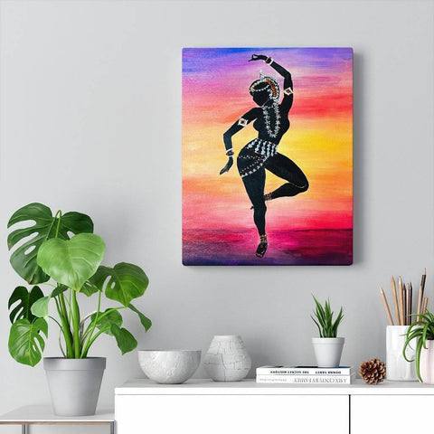Odissi at Sunrise Canvas Print