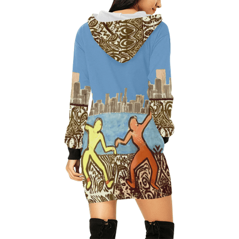 City Dancers Hoodie Dress