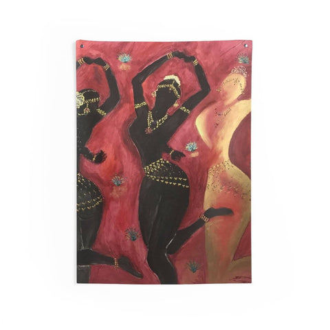 3  Temple Dancers Wall Tapestry