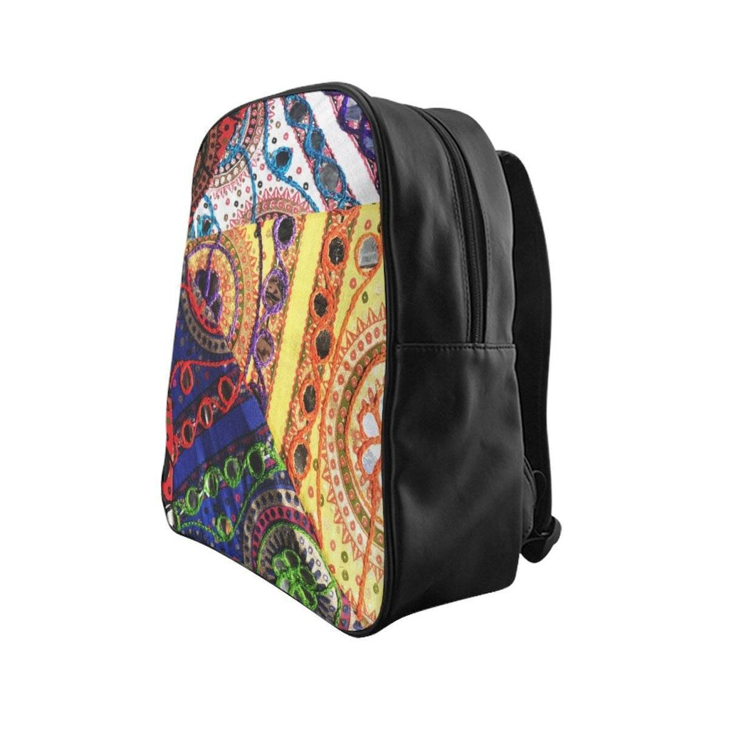 Desi Folk Print Backpack