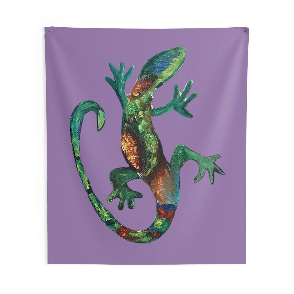 Wise Lizard Wall Tapestry