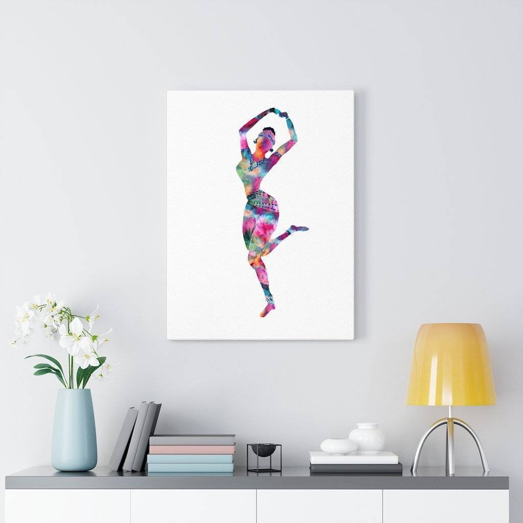 Holi Hai Dancer Canvas Print