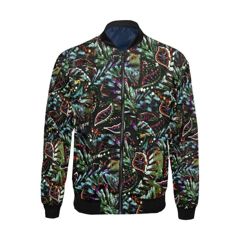 Jungle Leaves and Elephant Men's Bomber Jacket