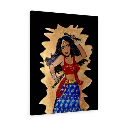 Desi Wonder Woman Canvas Print