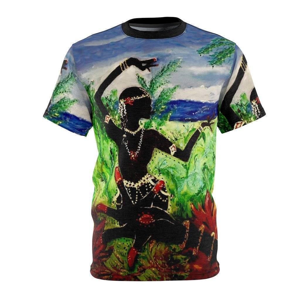 Lotus Hand and Dancer Cut & Sew Tee