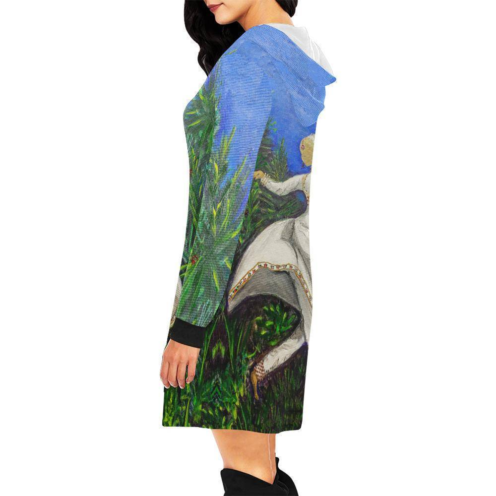 Kathak Dancer Hoodie Dress