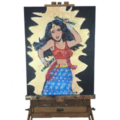 Desi Wonder Woman Painting