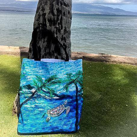 Maui Turtle Tote Bag