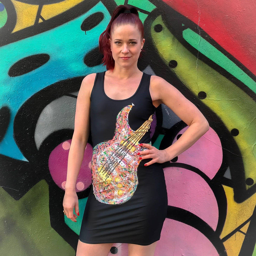 Psychedelic Guitar Dress