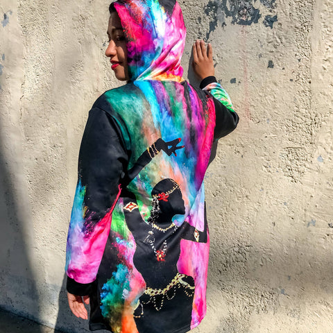 Holi Hai Dancer Hoodie Dress