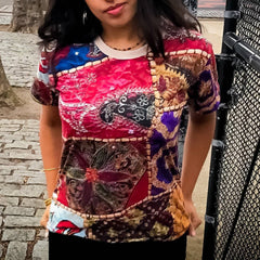 Desi Patchwork Women's Cut & Sew Tee