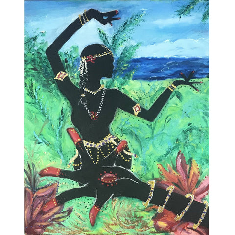 Lotus Hand and Dancer Painting