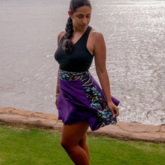 Bespoke Purple Jungle Skirt