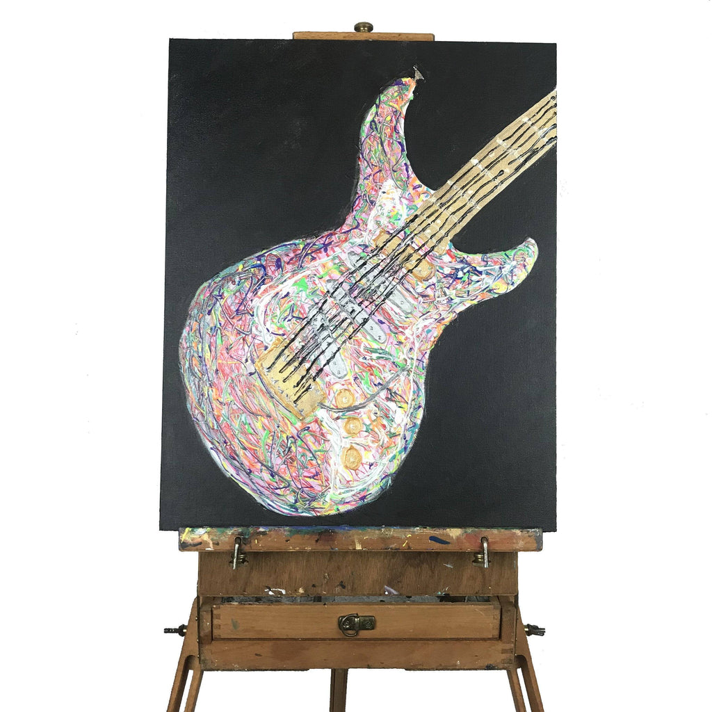 Psychedelic Guitar Painting
