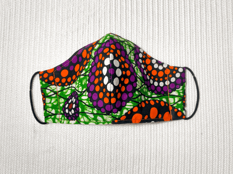 African Print Fitted Face Mask