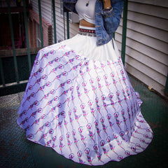 Full Length Temple Dancer Circle Skirt