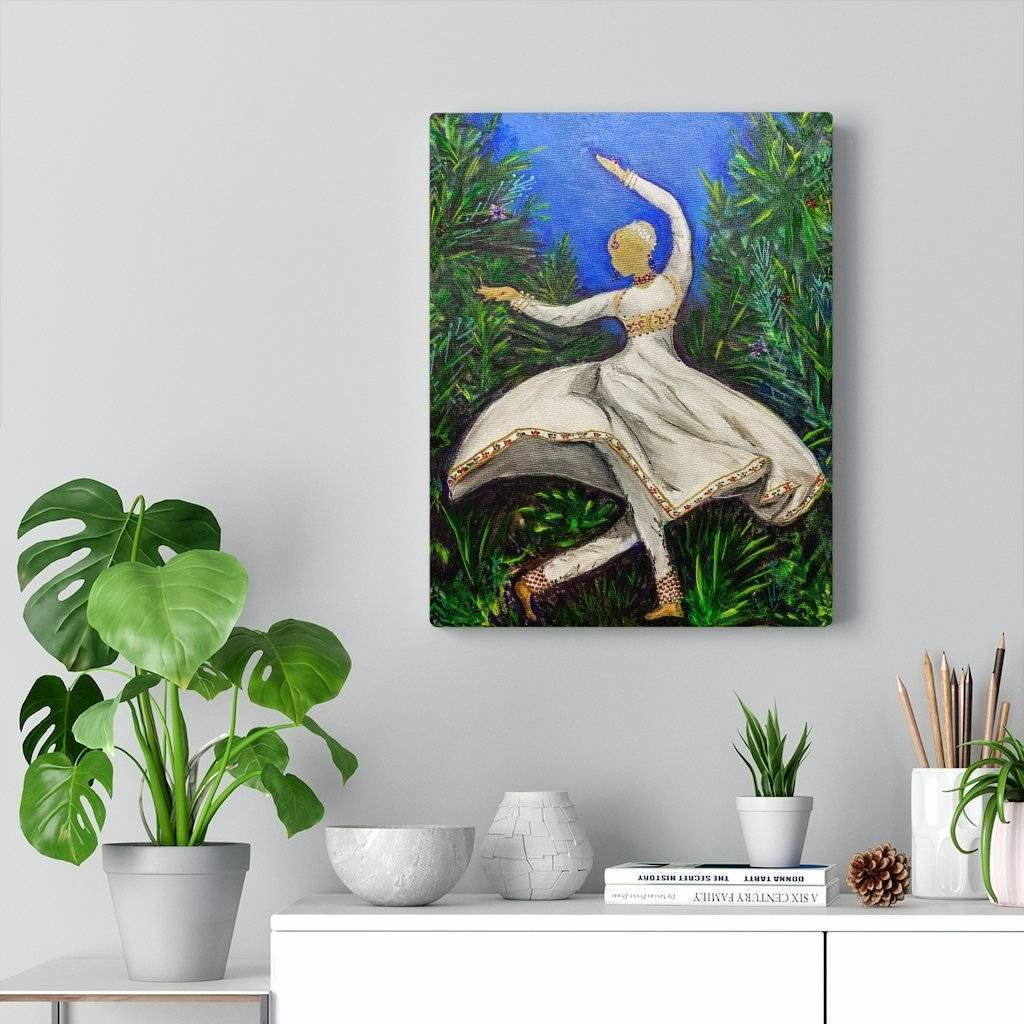 Kathak Dancer Canvas Print