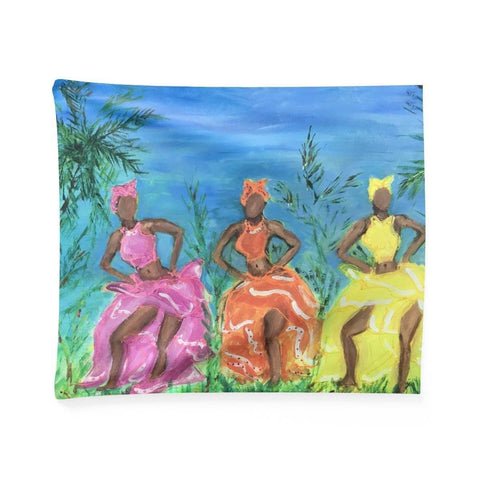 Puerto Rican Dancer Wall Tapestry