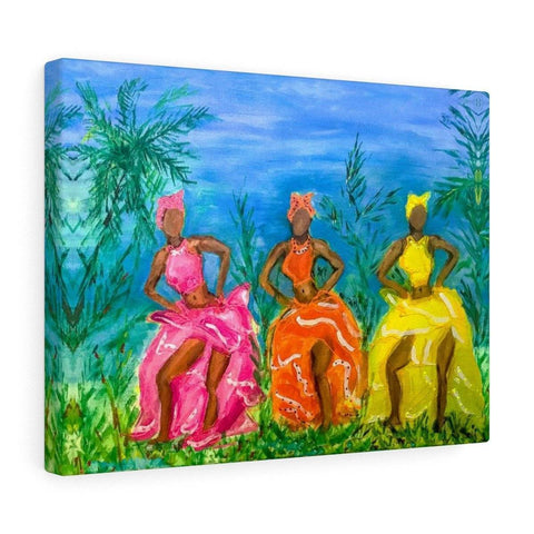 Puerto Rican Dancers Canvas Gallery Print