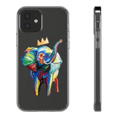 Elephant X Crown Phone Case (Clear Cases)