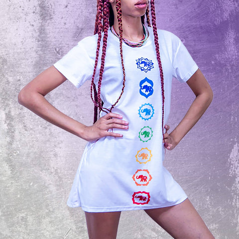 Elephant Chakra T-shirt Dress
