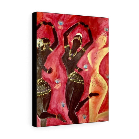 3 temple dancers Canvas Print