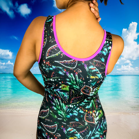 Jungle Leaves One-Piece Swimsuit