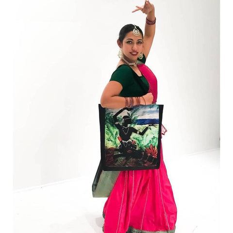 Lotus Hand & Dancer Tote Bag