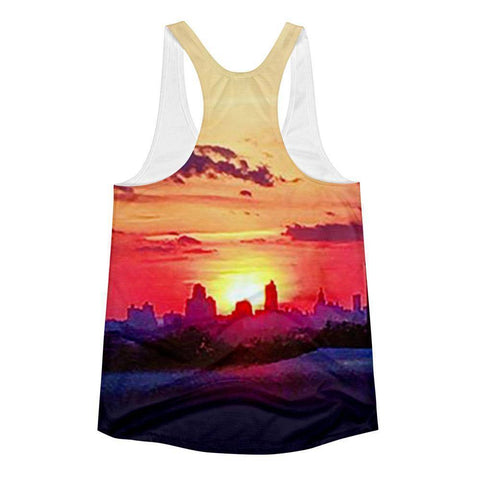 Brooklyn Sunrise Women's Racerback Tank