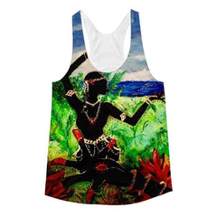 Lotus Hand & Dancer Women's Racerback Tank