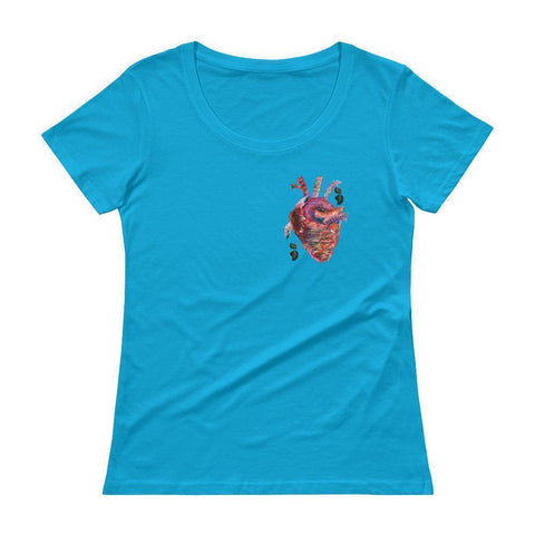 Heart Beat Womens' Scoopneck T-Shirt