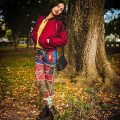 Desi Patchwork Yoga Leggings