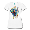 Image of Elephant x Crown Women's T-shirt - white
