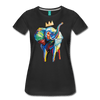 Image of Elephant x Crown Women's T-shirt - black