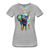 Image of Elephant x Crown Women's T-shirt - heather gray