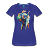 Image of Elephant x Crown Women's T-shirt - royal blue