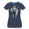 Image of Elephant x Crown Women's T-shirt - navy