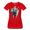 Image of Elephant x Crown Women's T-shirt - red