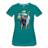 Image of Elephant x Crown Women's T-shirt - teal